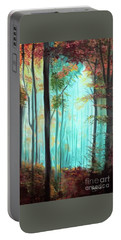 Autumn In The Forest Portable Battery Charger by Derek Rutt