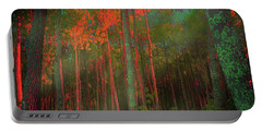 Portable Battery Charger featuring the photograph Autumn In The Magic Forest by Mimulux patricia no No