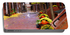 Portable Battery Charger featuring the photograph Autumn In The North End by Bruce Carpenter