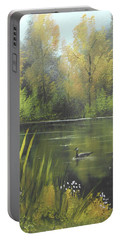 Autumn In The Park Portable Battery Charger by Angela Stout