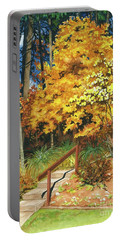 Autumn Invitation Portable Battery Charger by Barbara Jewell