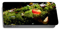 Autumn Jewels For A Mossy Log Portable Battery Charger