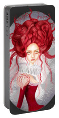 Portable Battery Charger featuring the drawing Autumn by Julia Art