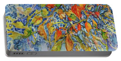 Portable Battery Charger featuring the painting Autumn Lace by Joanne Smoley