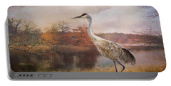 Autumn Lake Crane Portable Battery Charger