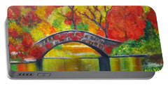 Autumn Landscape -colors Of Fall Portable Battery Charger