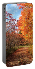 Portable Battery Charger featuring the photograph Autumn Lane by Pat Purdy