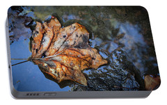Portable Battery Charger featuring the photograph Autumn Leaf by Debra and Dave Vanderlaan