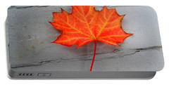 Autumn Leaf Portable Battery Charger