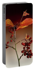 Portable Battery Charger featuring the photograph Autumn Leafs And Red Berries by David French