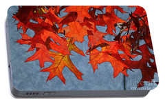 Portable Battery Charger featuring the photograph Autumn Leaves 19 by Jean Bernard Roussilhe
