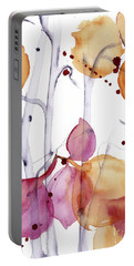 Portable Battery Charger featuring the painting Autumn Leaves by Dawn Derman