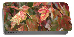 Autumn Leaves In Skagit County Portable Battery Charger