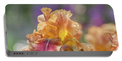 Autumn Leaves Iris Flower. The Beauty Of Irises  Portable Battery Charger