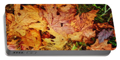 Portable Battery Charger featuring the painting Autumn Leaves by Joan Reese
