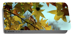 Autumn Leaves Portable Battery Charger by Joanne Coyle