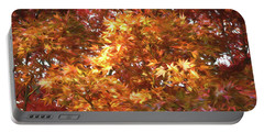 Autumn Leaves Painted Portable Battery Charger