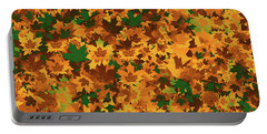 Portable Battery Charger featuring the digital art Autumn Leaves Pattern by Methune Hively