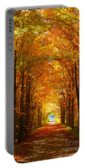 Autumn Light And Leaf Painting Portable Battery Charger