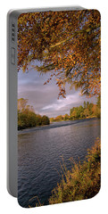 Autumn Light By The River Ness Portable Battery Charger