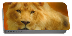 Autumn Lion Portable Battery Charger by Suzanne Handel