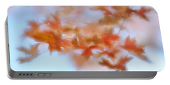 Portable Battery Charger featuring the photograph Autumn Maple Leaves Soft by Diane Alexander