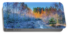 Autumn Meets Winter Portable Battery Charger