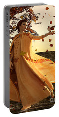 Portable Battery Charger featuring the digital art Autumn by Methune Hively