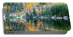 Autumn Mirror At Bear Lake Portable Battery Charger