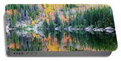 Autumn Mirror At Bear Lake Portable Battery Charger