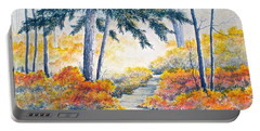 Autumn Mist Portable Battery Charger by Carolyn Rosenberger