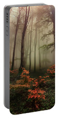 Autumn Mornin In Forgotten Forest Portable Battery Charger