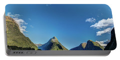 Portable Battery Charger featuring the photograph Autumn Morning Milford Sound by Gary Eason