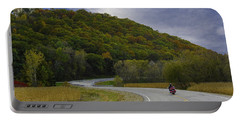 Autumn Motorcycle Rider / Red Portable Battery Charger