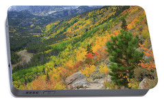 Portable Battery Charger featuring the photograph Autumn On Bierstadt Trail by David Chandler