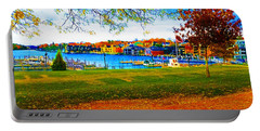 Autumn On Lake Charlevoix Portable Battery Charger