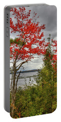 Portable Battery Charger featuring the photograph Autumn On Raquette Lake by David Patterson