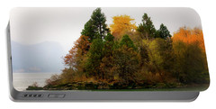Portable Battery Charger featuring the photograph Autumn On The Columbia by Albert Seger