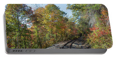 Portable Battery Charger featuring the photograph Autumn On The Hiawassee Rails by John Black