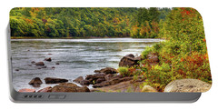 Portable Battery Charger featuring the photograph Autumn On The Hudson River by David Patterson