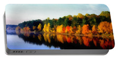 Autumn On The Lake Portable Battery Charger by Joseph Frank Baraba