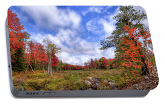 Portable Battery Charger featuring the photograph Autumn On The Stream by David Patterson