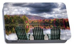 Portable Battery Charger featuring the photograph Autumn On West Lake by David Patterson