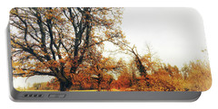 Autumn On White Portable Battery Charger