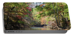 Portable Battery Charger featuring the photograph Autumn Over Golden Waters by Lana Trussell
