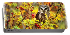 Autumn Owl Portable Battery Charger