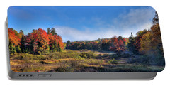 Portable Battery Charger featuring the photograph Autumn Panorama At The Green Bridge by David Patterson