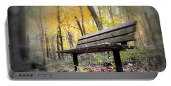 Autumn Park Bench Portable Battery Charger