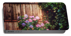 Portable Battery Charger featuring the photograph Autumn Peace - Garden by Miriam Danar