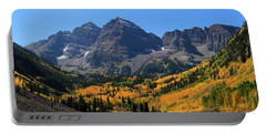 Autumn Peaks Portable Battery Charger by Paula Guttilla